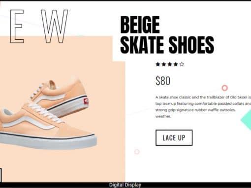 Sneaker Sale Hero Design